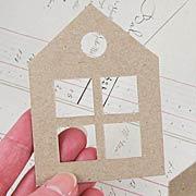 Die-Cut Chipboard Houses with Windows