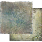 Tattered Garden Scrapbook Paper - Leaves