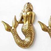 Large Brass Mermaid