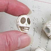 Large White Turquoise Skull Beadsd
