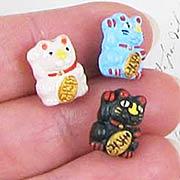 Good Luck Ceramic Cat Bead