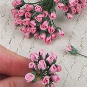 Mini Rose Buds - Medium Pink