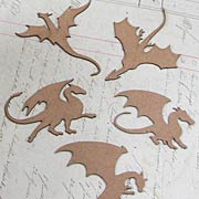 Miniature Dragon Silhouettes