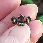Antique Brass Mini Fleur de Lys Handle