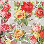 Mixed Roses Dresden Scraps