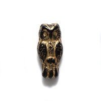 Black Glass Owl Beads