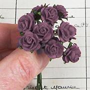 Tiny Paper Roses - Plum