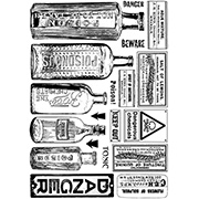 Poison Bottles & Danger Unmounted Stamp Set