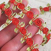 Flat Ribbon Rose Braid