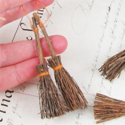 Miniature Rustic Brooms