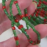Glass Christmas Seed Bead Garland