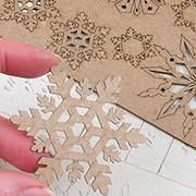 Chipboard Snowflake Shape Set