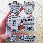 Shabby Chic French Labels Cling Stamp Set