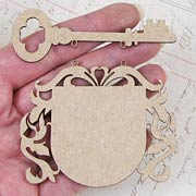 Mini Chipboard Crest Signs