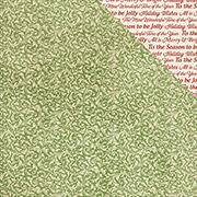 Silent Night Sing Carols Scrapbook Paper