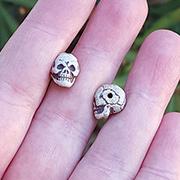 Small Ceramic Skull Bead