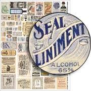 Snake Oil Labels Collage Sheet