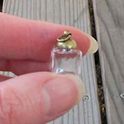 10mm Square Glass Bottle with Lid