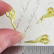 Fancy Gold Stork Scissors