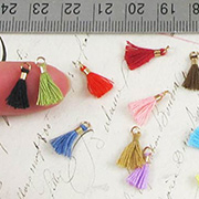 10mm Tiny Tassels - Mixed Colors