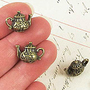 3D Bronze Tea Time Teapot Charm